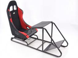Palette 3x FK Gamesitz Spielsitz Rennsimulator eGaming Seats Estoril schwarz/rot