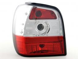 Taillights VW Polo type 6N Yr. 95-98, red/clear