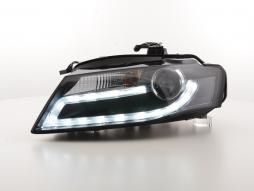 Scheinwerfer Set Daylight LED Tagfahrlicht Audi A4 B8 8K Bj. 07-11 schwarz