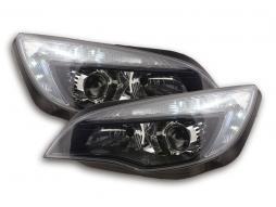 Scheinwerfer Daylight mit Tagfahrlicht Opel Astra J Bj. 2009-2012 schwarz