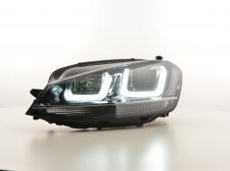 Scheinwerfer Daylight LED Tagfahrlicht VW Golf 7 Bj. ab 2012 GTI-Look schwarz/chrom