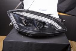 headlights Xenon Daylight LED DRL look  Mercedes-Benz s class W221 year 05-09 black