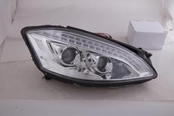 headlights Xenon Daylight LED DRL look  Mercedes-Benz s class W221 year 05-09 chrome