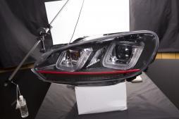 headlights Daylight LED daytime running light  VW Golf 6 year 08-12 black GTI-Look
