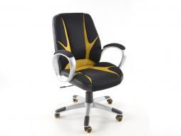 Palette 7x FK Sportsitz Bürodrehstuhl Oakland schwarz/gelb Chefsessel Drehstuhl Bürostuhl