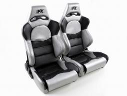 Pallet 3x Sportseat Set Edition 1 artificial leather black/silver