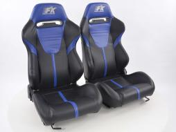 Palette 3x FK Sportsitze Auto Halbschalensitze Set Atlanta in Motorsport-Optik