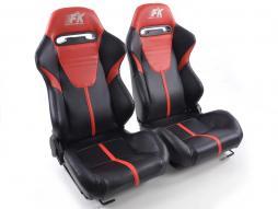 Palette 3x FK Sportsitze Auto Halbschalensitze Set Atlanta in Motorsport-Optik