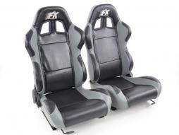 Palette 3x FK Sportsitze Auto Halbschalensitze Set Boston in Motorsport-Optik