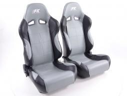 palette 3x siège baquet modèle Comfort (1xgauche+1xdroite) gris/noir