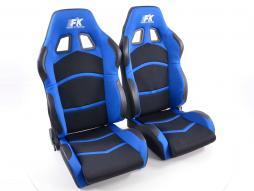 Palette 2x FK Sportsitze Auto Halbschalensitze Set Cyberstar in Motorsport-Optik