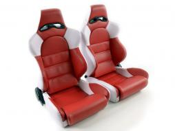 Pallet 3x Sportseat Set Edition 1 artificial leather red / white
