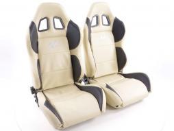 Pallet 3x Sportseat Set Houston artificial leather beige/black seam beige