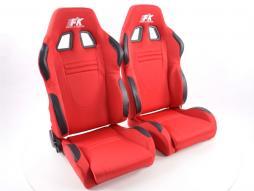 Palette 2x FK Sportsitze Auto Halbschalensitze Set Racecar in Motorsport-Optik