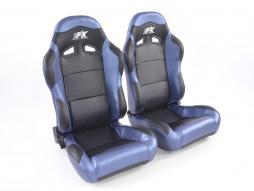 Palette 3x FK Sportsitze Auto Halbschalensitze Set Spacelook Carbon in Motorsport-Optik