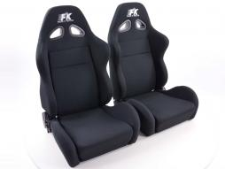 FK sport seats half bucket seats Set Sport textile black with heating and massage