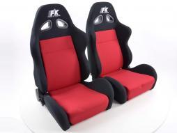 Palette 2x FK Sportsitze Auto Halbschalensitze Set Sport in Motorsport-Optik