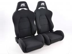 FK sport seats half bucket seats Set Streetfighter with heating