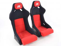 Pallet 3x Sportseat Set Evolution fabric red /black