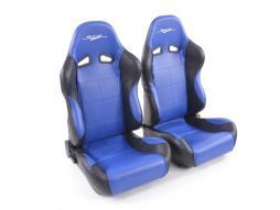 Palette 3x FK Sportsitze Auto Halbschalensitze Set SCE-Sportive 2 Kunstleder blau/schwarz