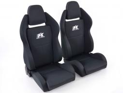 Palette 2x FK Sportsitze Auto Halbschalensitze Set Race 5 in Motorsport-Optik