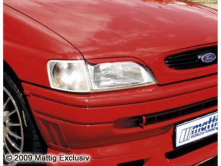 MATTIG Scheinwerferblenden für Ford Escort 5, Bj. 1990-1995