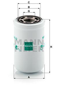 Filter, Arbeitshydraulik MANN-FILTER (WH 945/2)