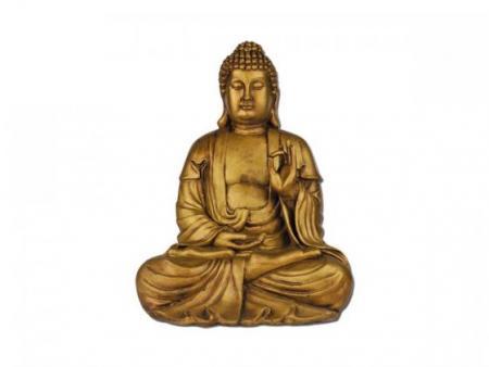 sitzender Buddha Abmessung ca. 36x32x49 cm, gold