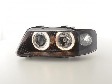 Scheinwerfer Set Angel Eyes Audi A3 Typ 8L Bj. 01-03 schwarz