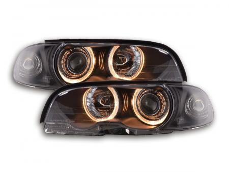 Scheinwerfer Set Angel Eyes BMW 3er Coupe Typ E46 Bj. 98-01 schwarz