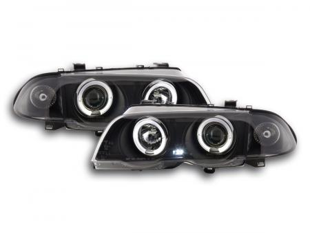 Scheinwerfer Set BMW 3er Limo Typ E46 Bj. 98-01 schwarz