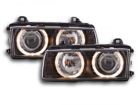 Scheinwerfer Angel Eyes gebraucht BMW 3er E36 Bj. 92-98 schwarz