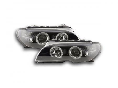 tuning shop scheinwerfer angel eyes bmw 3er e46 coupe. Black Bedroom Furniture Sets. Home Design Ideas