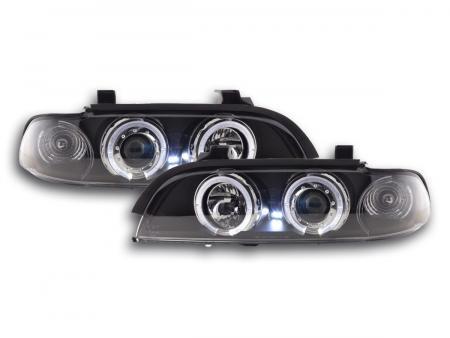 Scheinwerfer Set Angel Eyes BMW 5er E39 Bj. 95-00 schwarz