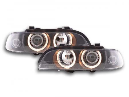 Scheinwerfer Set Xenon Angel Eyes BMW 5er Typ E39 Bj. 95-00 schwarz