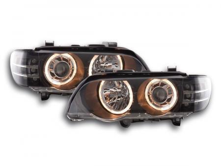 Scheinwerfer Angel Eyes BMW X5 E53 Bj. 00-03 schwarz