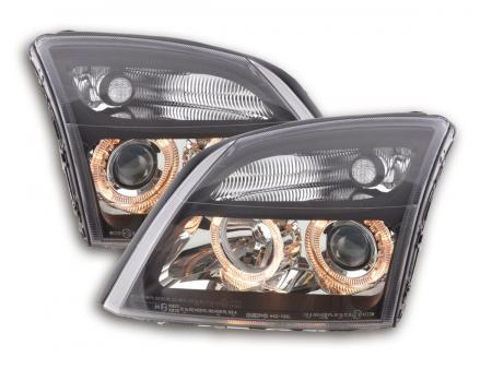 Scheinwerfer Set Angel Eyes Opel Vectra C Bj. 02-04 schwarz
