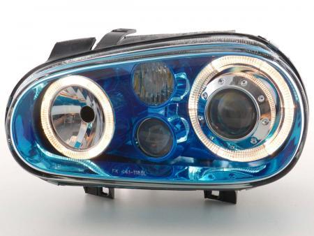 Scheinwerfer Angel Eyes VW Golf 4 Typ 1J Bj. 98-03 blauchrom