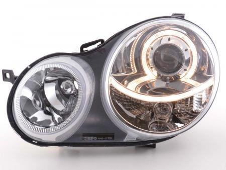 Scheinwerfer Angel Eyes VW Polo Typ 9N Bj. 01-05 chrom
