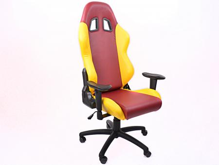 Palette 5x FK Gamingstuhl eGame Seats eSports Spielsitz Liverpool rot/gelb