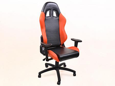 sedia da ufficio FK sedia per giochi elettronici Liverpool nero/arancione sedia girevole