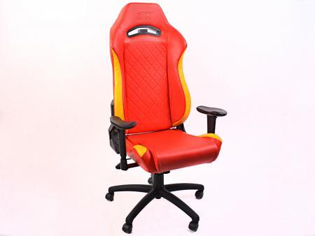 sedia da ufficio FK sedia per giochi elettronici Liverpool rosso/giallo sedia girevole