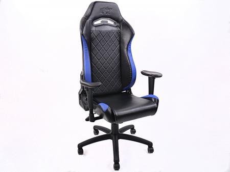 FK Gamingstuhl Bürodrehstuhl London schwarz/blau Drehstuhl Bürostuhl