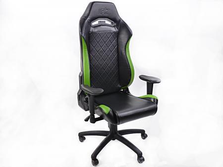 FK Gamingstuhl Bürodrehstuhl London schwarz/grün Drehstuhl Bürostuhl