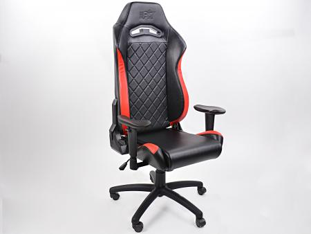 tuning shop fk gamingstuhl b rodrehstuhl london schwarz rot drehstuhl b rostuhl online kaufen. Black Bedroom Furniture Sets. Home Design Ideas