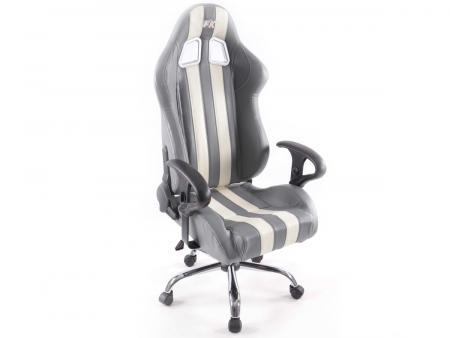 tuning shop fk sportsitz b rodrehstuhl nashville grau wei chefsessel drehstuhl b rostuhl. Black Bedroom Furniture Sets. Home Design Ideas