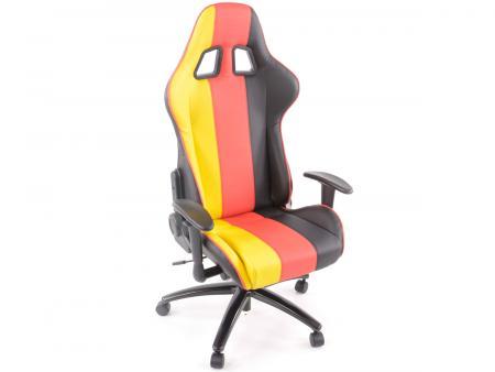 Tuning shop chaise de bureau sport avec accoudoir similicuir