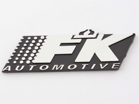 Aufkleber Chrom 3D Autoaufkleber 3D FK Automotive Logo chrom