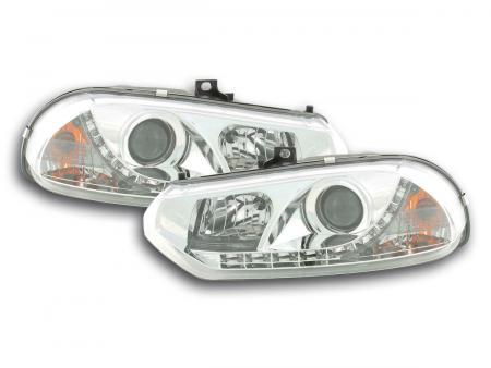 Scheinwerfer Set Daylight LED TFL-Optik Alfa Romeo 156 Typ 932 Bj. 98-02 chrom