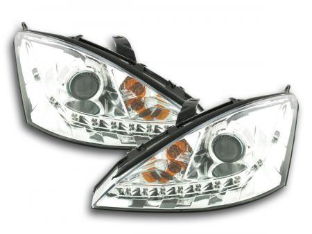Scheinwerfer Daylight Ford Focus Bj. 98-01 chrom